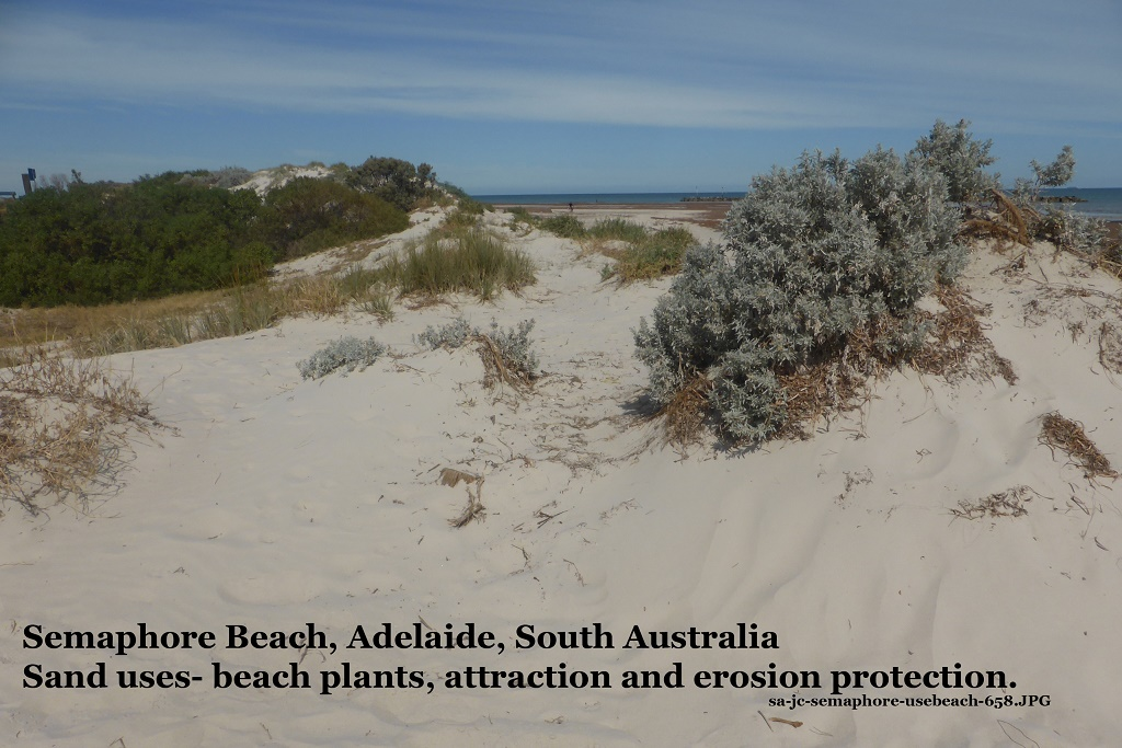 White sand of beach and dunes at semaphore beach adelaide for Topsoil adelaide